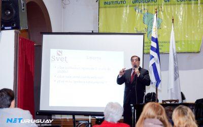 """El Cr. Alexei Yaquimenko brindó la conferencia """"Emprendedores y Franquicias"""" en el Ateneo de Montevideo"""