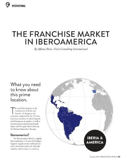 Revista más prestigiosa del mundo de Franquicias publica artículo sobre Iberoamérica